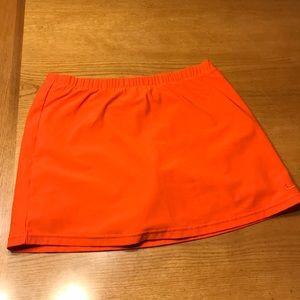 Nike orange tennis skirt, S